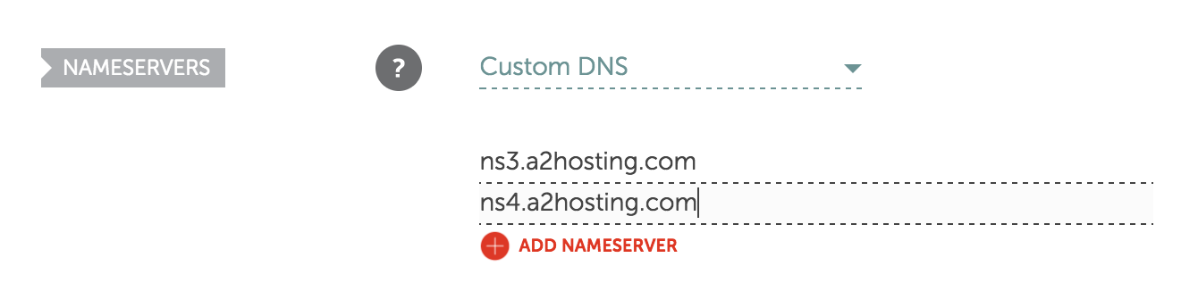 Set your nameservers when installing WordPress