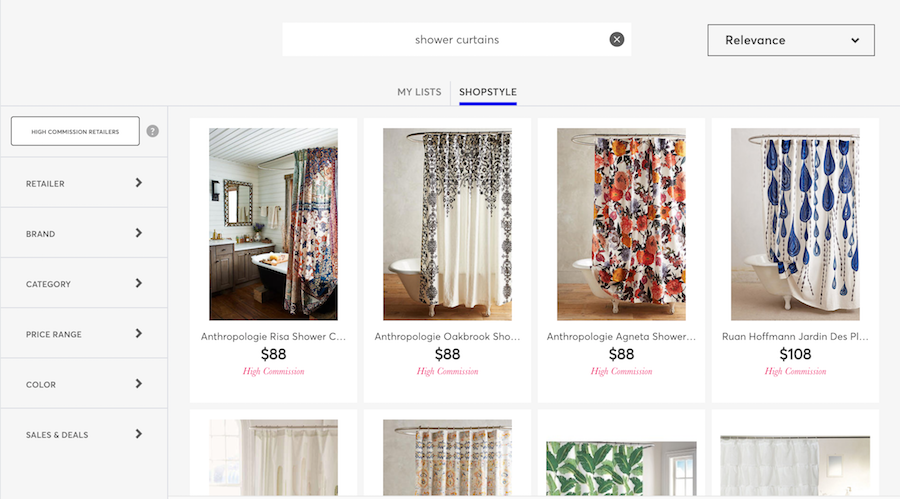 Shopstyle Product Search For Shower Curtains