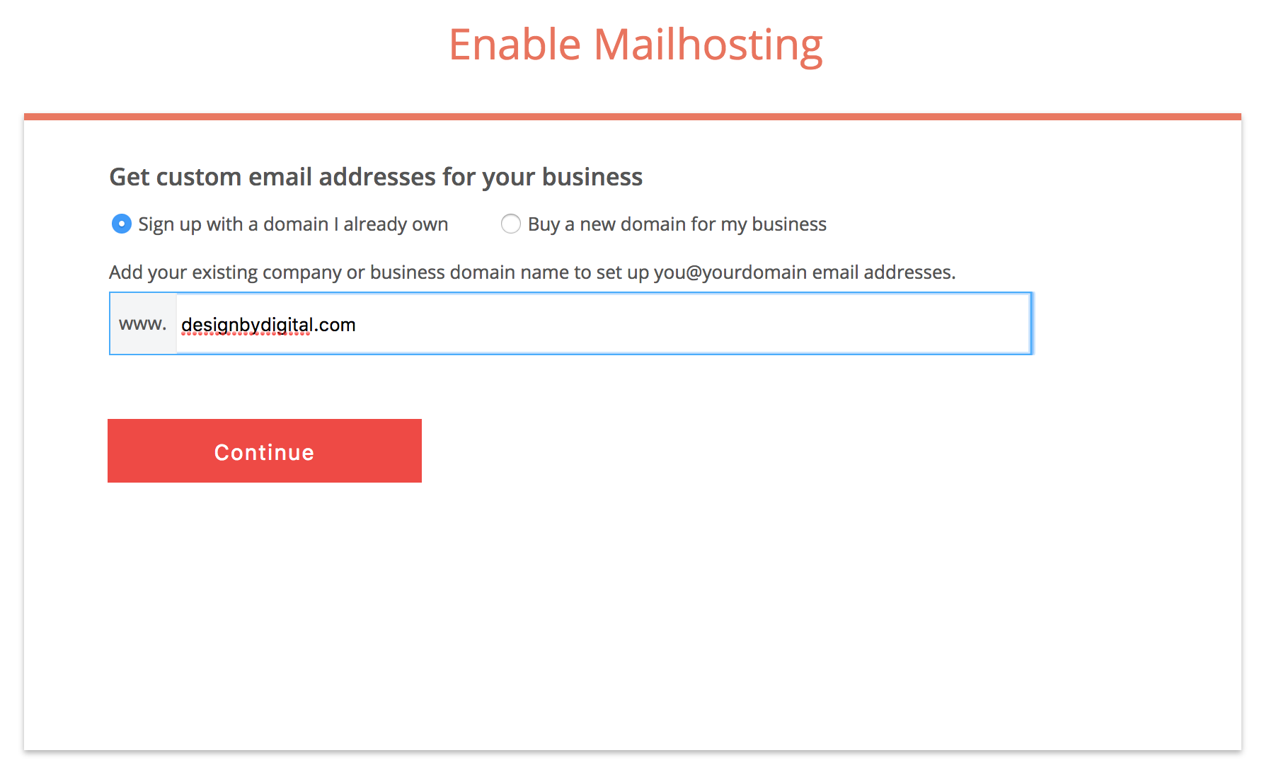 Enable Zoho Mailhosting With A Domain You Already Own