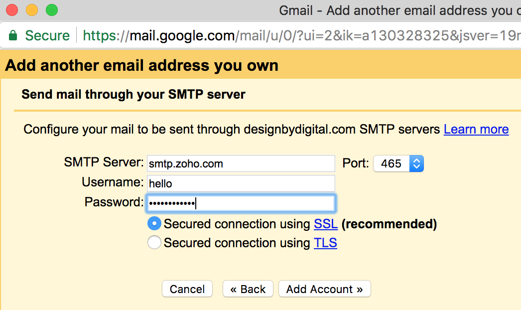 Send Mail Through An Smtp Server In Gmail