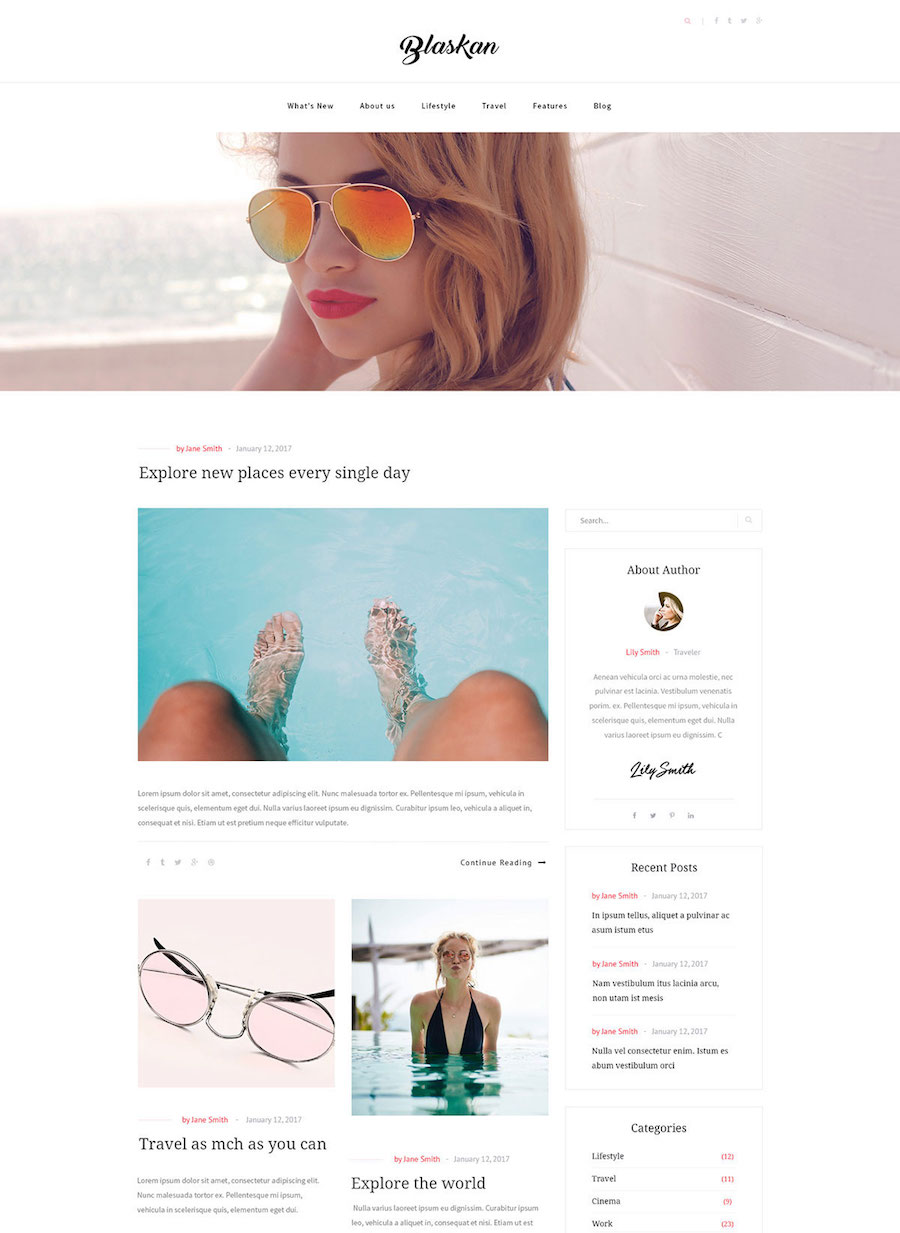 Blaskan WordPress Free Theme
