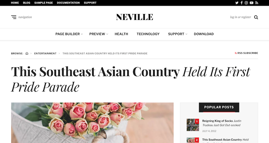 Neville WordPress Free Theme