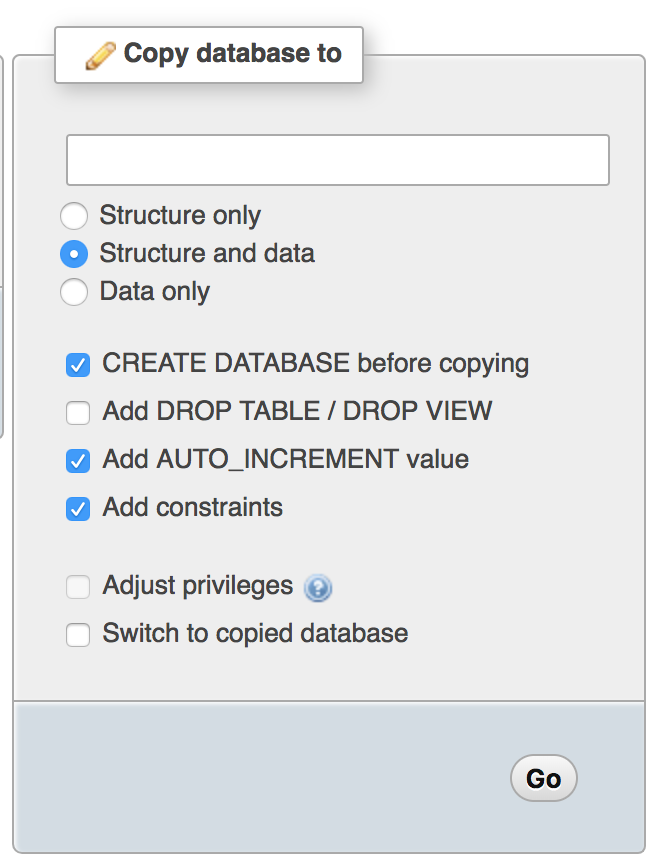 Copying Your Database To Create A Staging Site