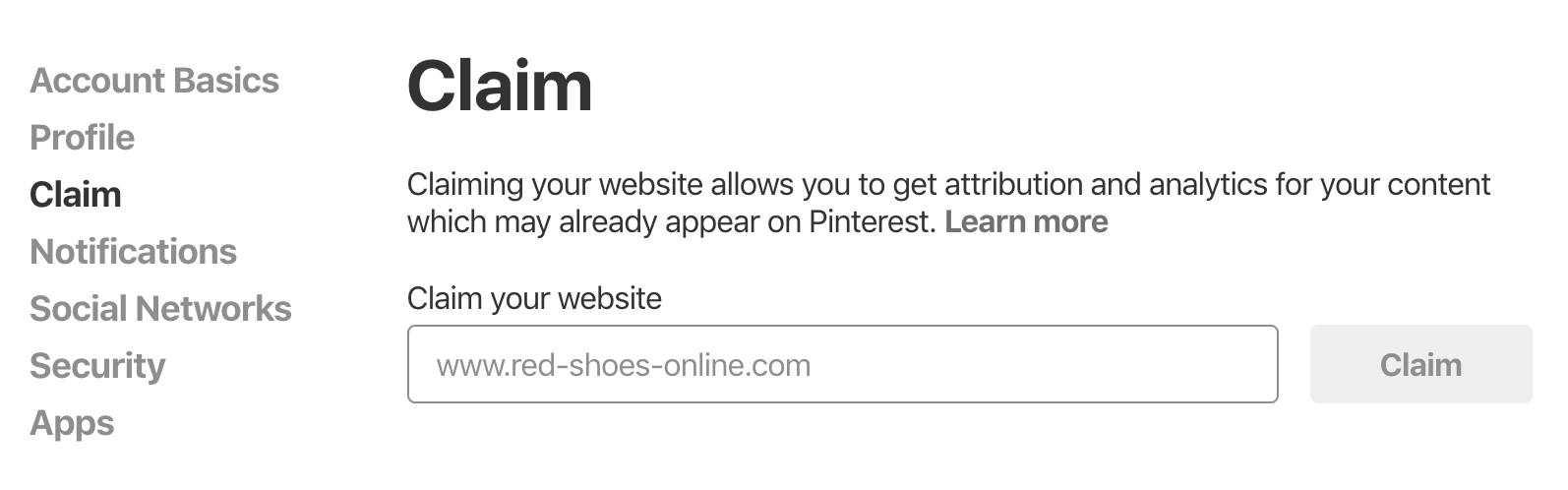 Claim Website On Pinterest