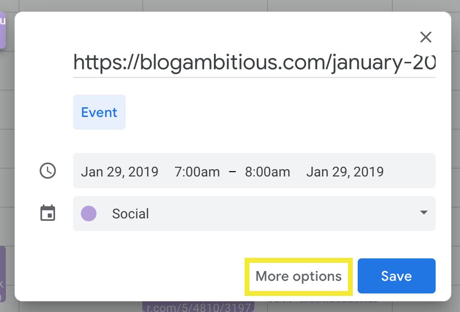 Create A Google Calendar Event
