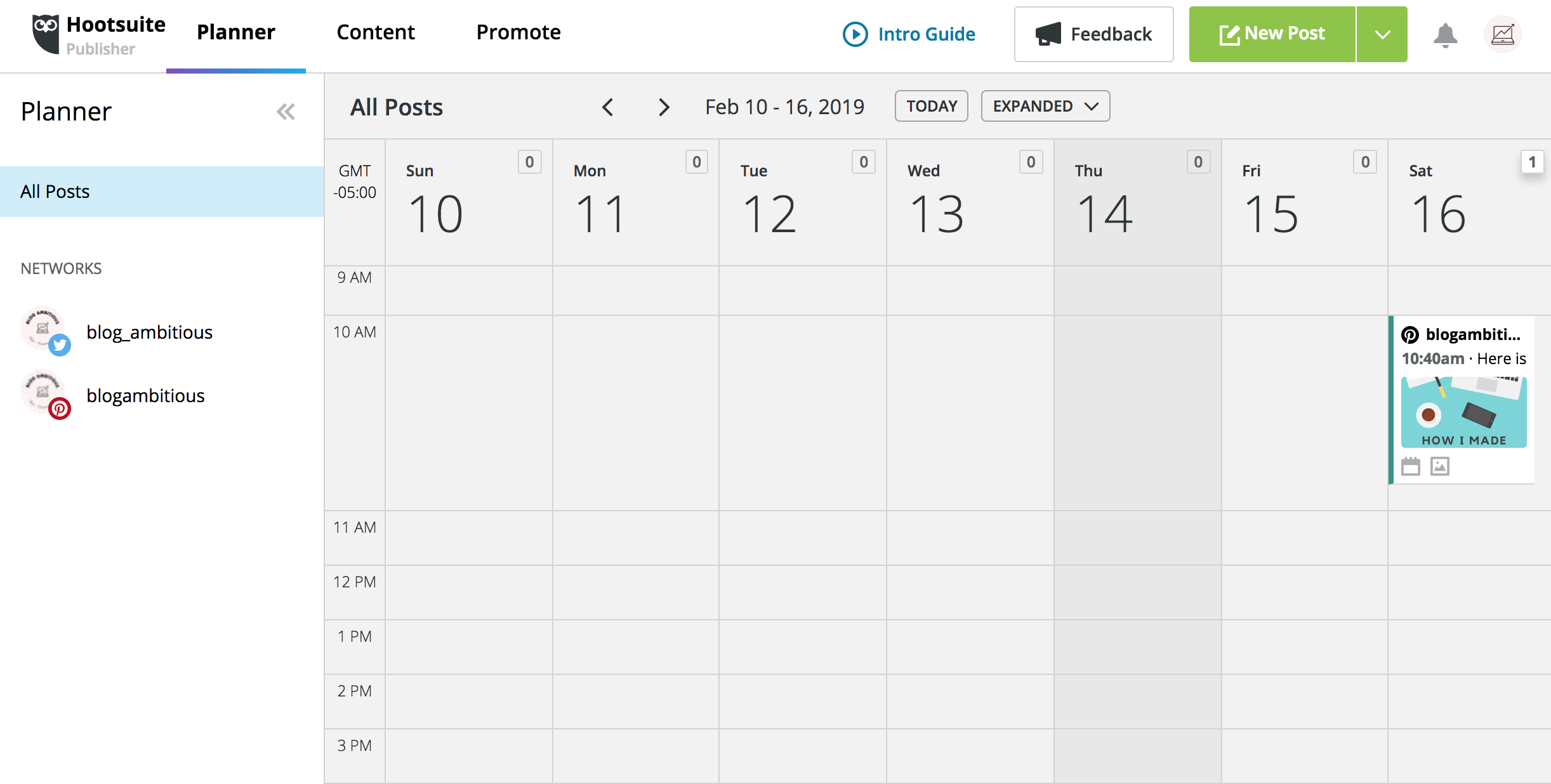 Free Pinterest Scheduling Calendar With Hootsuite